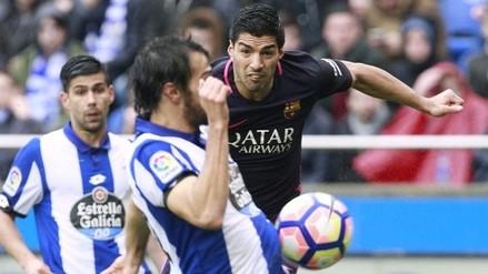 Luis Suárez anotó un gol con un 'latigazo' dentro del área