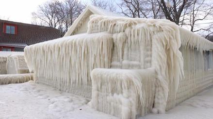 Así quedó esta casa por las bajas temperaturas que afronta EE.UU.