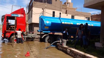 Chiclayo: Cisterna de agua potable es empleada para drenar aguas pluviales.