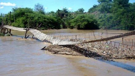 Chiclayo: colapsa puente colgante en el distrito de Zaña
