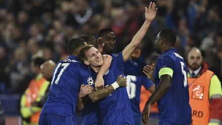Leicester le ganó 2-0 a Sevilla y se metió a cuartos de la Champions League
