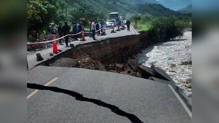 Cierran vía Cajamarca – Chilete por colapso de plataforma vial