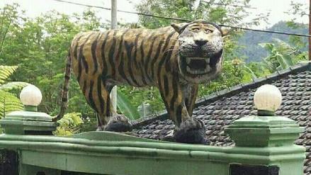 Las burlas en redes provocaron que destruyan una estatua en Indonesia
