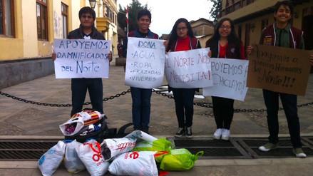 Jóvenes inician colecta para ayudar a damnificados de Trujillo y Chiclayo