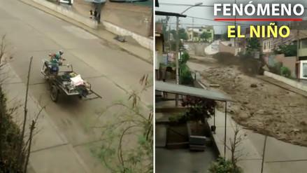 Video | Así escapó un vecino en su triciclo ante la llegada del huaico en Chosica