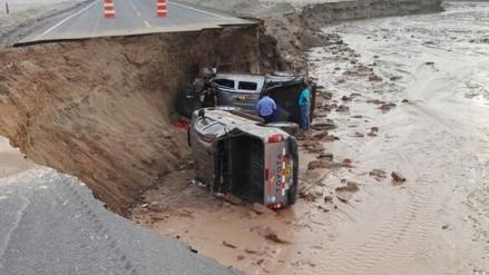 Huaura: un muerto y cuatro heridos tras colapso de carretera Santa Rosa -Sayán