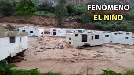 El desborde del río Rímac afectó centros campestres en Lurigancho-Chosica