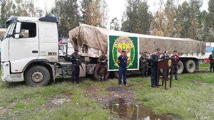 Huancayo: policía incauta 11 toneladas de insumos para fabricar droga