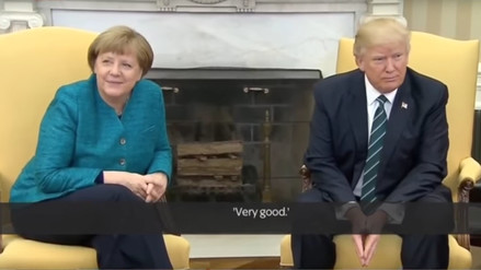 Trump evitó dar la mano a Merkel en tenso encuentro en la Casa Blanca