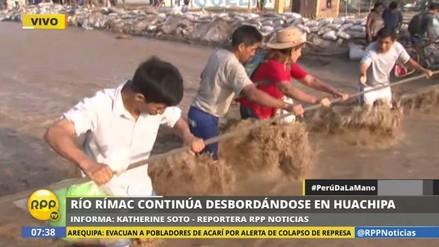 El río Rímac volvió a desbordarse en Huachipa