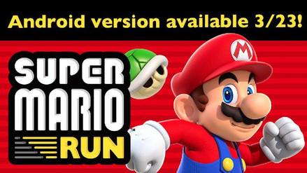 Super Mario Run llegará a Android este 23 de marzo