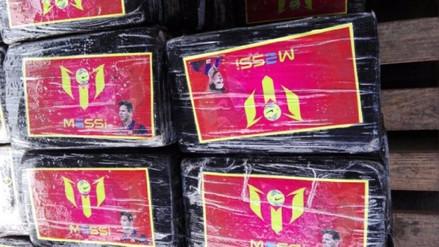 Hallan una tonelada y media de cocaína en paquetes con el rostro de Messi