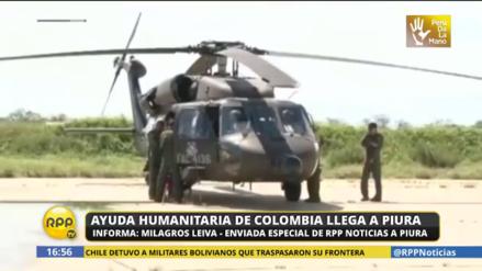 Colombia envió helicópteros para apoyar en rescate de damnificados en Piura