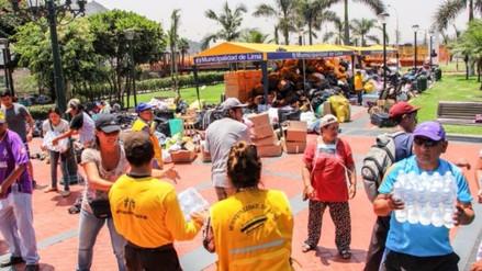 El Parque de la Muralla se convierte en un centro de acopio de donaciones