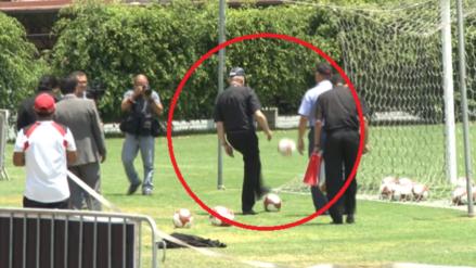 Juan Luis Cipriani dominó el balón en los entrenamientos de la selección