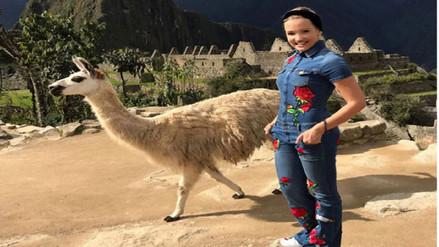Cantante colombiana Fanny Lu recorrió Machu Picchu