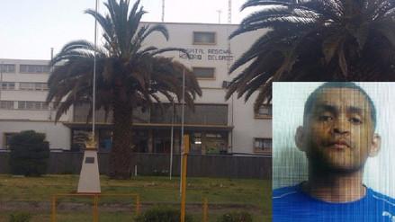 Preso fugó del hospital Honorio Delgado pese a vigilancia policial