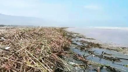 Huaral: río Chancay arrastró escombros de huaico a las playas