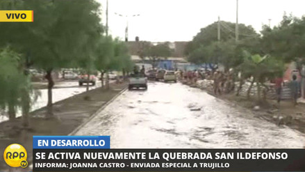 Un nuevo huaico inunda Trujillo tras activación de la quebrada de San Ildefonso
