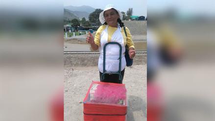 Vendedora ambulante donó sus chupetes a los damnificados de Cajamarquilla
