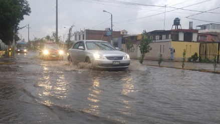 Lluvias intensas se registran en Arequipa