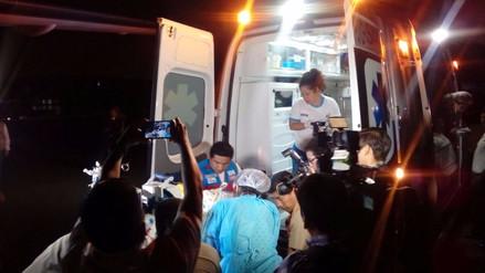 Bebe prematuro fue trasladado de Chimbote a Lima por la Marina de Guerra