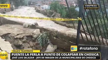 Puente La Perla a punto de colapsar en Chosica