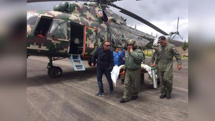 Jauja: puente aéreo permitió evacuar a gestante en grave estado de salud