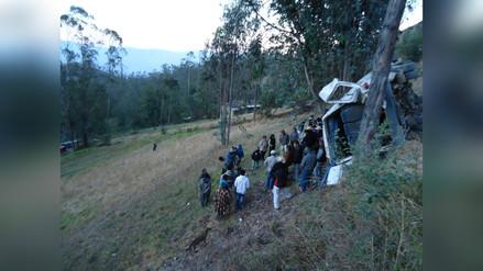 Cajamarca: dos muertos y cinco heridos en accidente de tránsito
