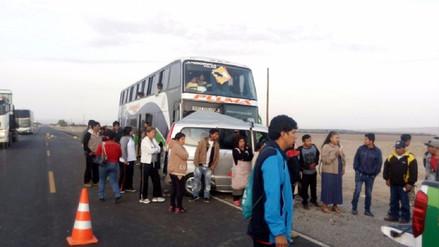 Seis heridos deja el choque de un bus interprovincial y una minivan