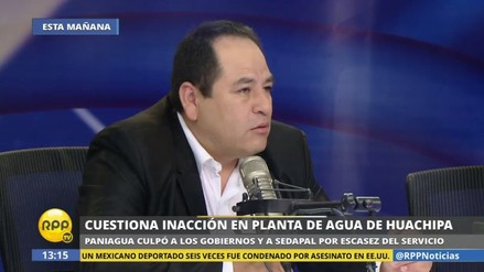 "César Paniagua: ""La planta de Huachipa tiene un problema de diseño"""