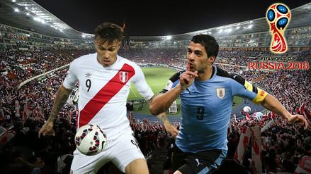 Perú se juega la vida ante Uruguay que llega con Suárez y Cavani