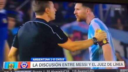 Los insultos de Lionel Messi al árbitro del Argentina - Chile