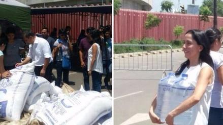 Humala y Heredia reaparecieron con ayuda para los damnificados de El Niño
