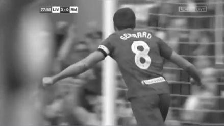 Steven Gerrard volvió al Liverpool y anotó un golazo contra Real Madrid