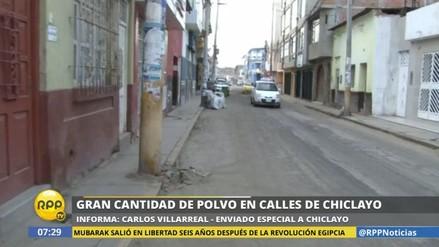 Los chiclayanos afrontan un nuevo problema: el polvo