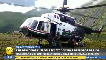 Aviación de la PNP rescató a más de mil personas aisladas en zonas alejadas