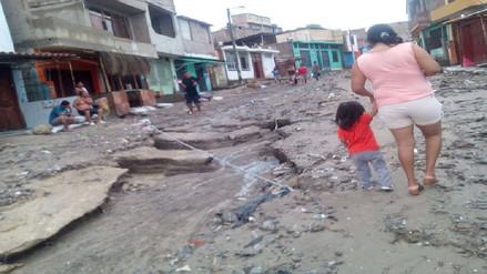 Piura: diversos sectores de Sechura se inundaron tras intensa lluvia