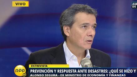 Segura: Este MEF recortó S/ 700 millones destinados a atender emergencias
