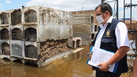 Fiscalía exhortó al cierre del cementerio de Túcume por inundación