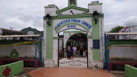 Cementerio de Olmos también quedó afectado por las intensas lluvias