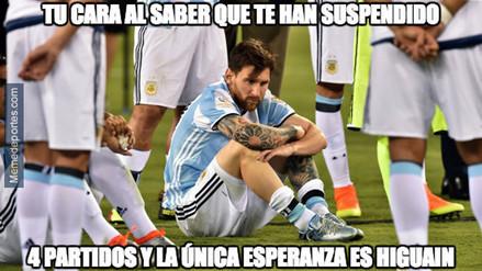 Los mejores memes relacionados a la sanción de Lionel Messi