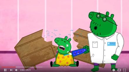 Versiones sádicas de Peppa Pig se infiltran en canales infantiles de YouTube