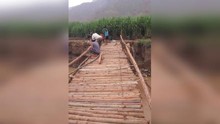 Laredo: rehabilitan puente colgante que conecta a caserío Jesús María