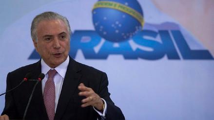 Michel Temer puede ser destituido como presidente de Brasil en algunos días