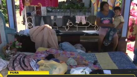 Familias de Pedregal Grande duermen en cementerio tras inundaciones en Piura