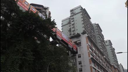 En China existe una línea de metro que atraviesa un edificio