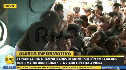 Caos durante rescate a damnificados en Catacaos