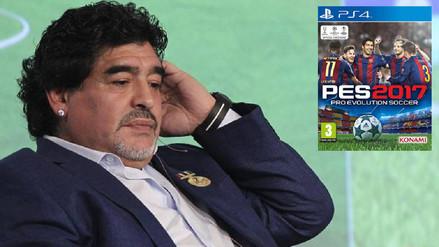 Diego Maradona se encontró en PES 2017 y acabó muy molesto