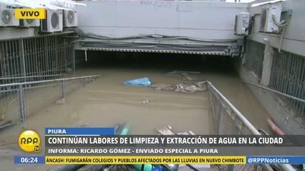 La Municipalidad de Piura sigue inundada tras el desborde del río